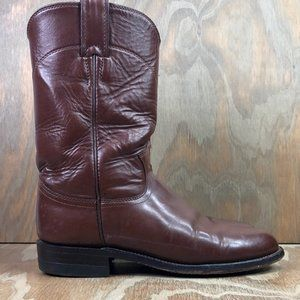 Justin Women's Roper Brown Leather Western Boots